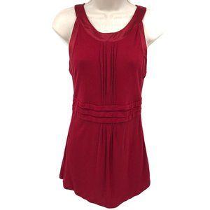 Loft Sleeveless Pleated Knit Blouse S